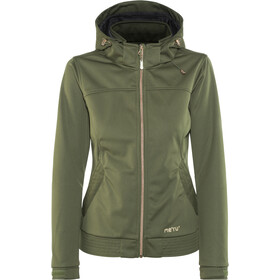 Meru Falun Softshell Jas Dames, forest night